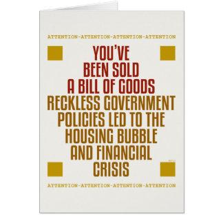 Políticas imprudentes del gobierno tarjeta de felicitación