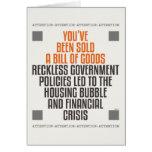 Políticas imprudentes del gobierno tarjetas