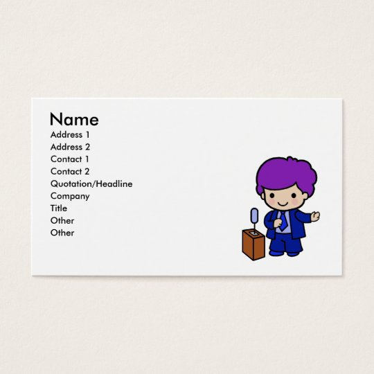 Politician Boy Business Card