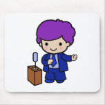 Politician Boy Mouse Pad