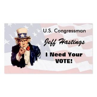 Politician Business Cards