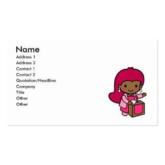 Politician Girl Business Card Template