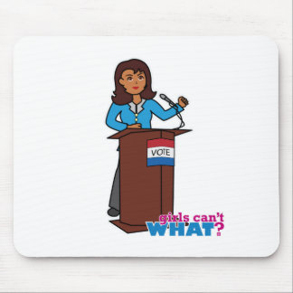 Politician Girl Mouse Pad