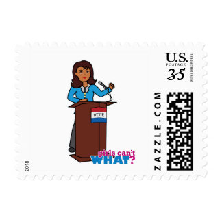 Politician Girl Postage