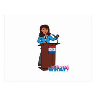 Politician Girl Postcard