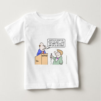 Politician hates family values question. baby T-Shirt