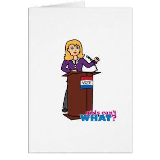 Politician - Light/Blonde Card