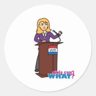 Politician - Light/Blonde Classic Round Sticker