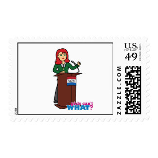 Politician - Light/Red Postage Stamp