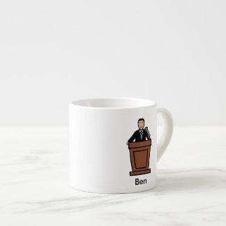 Politician - personalized cartoon espresso mug