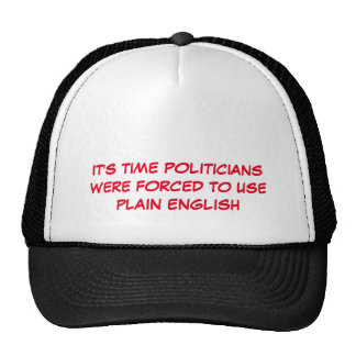 Politician Speak Trucker Hat