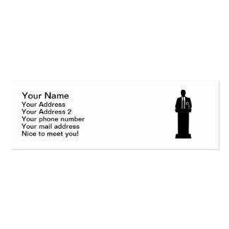 Politician speaker business cards