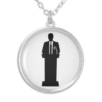 Politician speaker necklaces