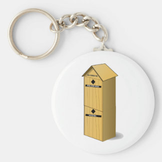 Politicians and Voter Outhouse Keychain