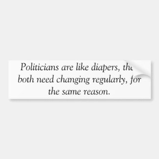 Politicians are like diapers, anti obama sticker