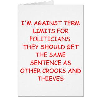 POLITICIANS CARD