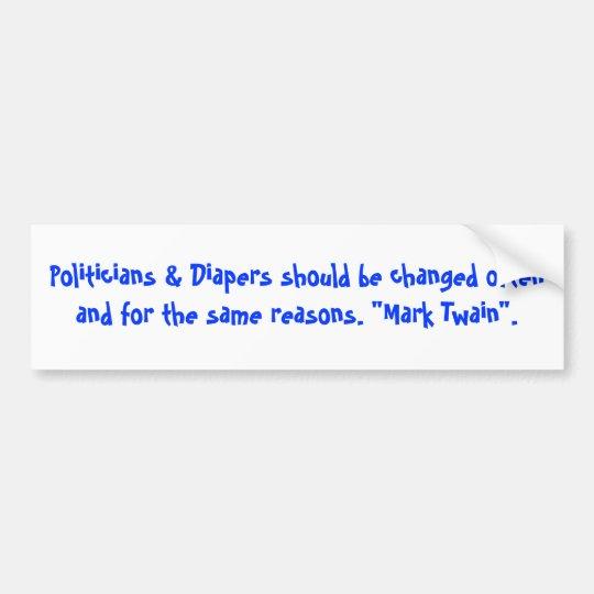 Politicians & Diapers Bumper Sticker