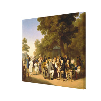 Politicians in the Tuileries Gardens, 1832 Canvas Print
