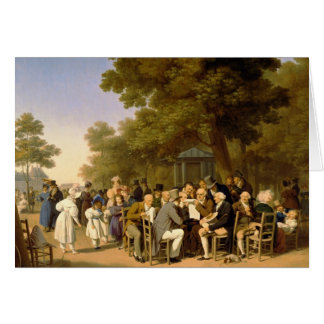 Politicians in the Tuileries Gardens, 1832 Card