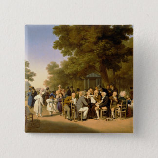 Politicians in the Tuileries Gardens, 1832 Pinback Button