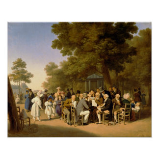 Politicians in the Tuileries Gardens, 1832 Poster