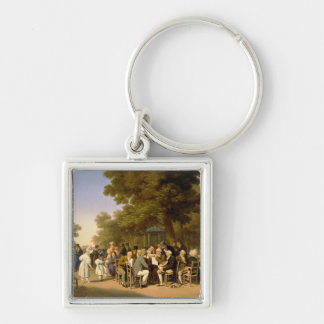 Politicians in the Tuileries Gardens, 1832 Silver-Colored Square Keychain