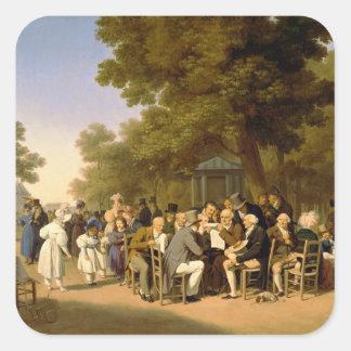 Politicians in the Tuileries Gardens, 1832 Square Sticker