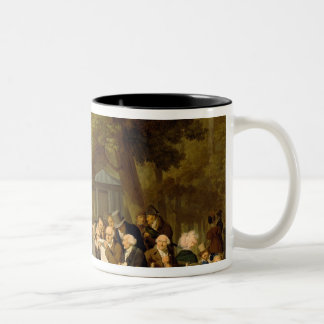 Politicians in the Tuileries Gardens, 1832 Two-Tone Coffee Mug