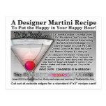 Politician's Incorrect Joke Martini RecipePostcard Postcard
