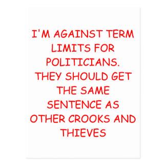 POLITICIANS POSTCARD