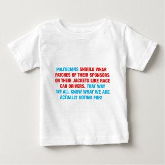 Politicians Should Wear Sponsor Patches Baby T-Shirt