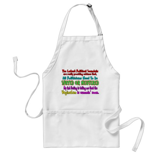 Politicians Spayed and Neutered Adult Apron