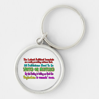 Politicians Spayed and Neutered Silver-Colored Round Keychain