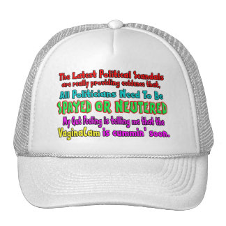 Politicians Spayed and Neutered Trucker Hat
