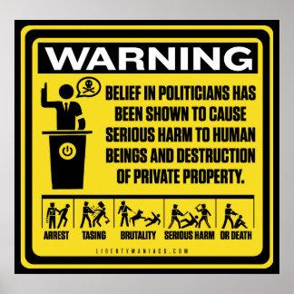 Politicians Warning Poster