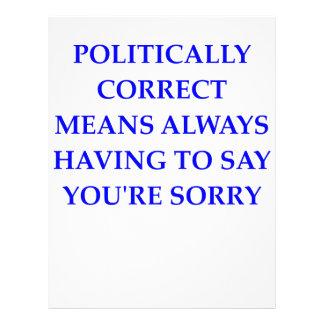 político correcto plantilla de membrete