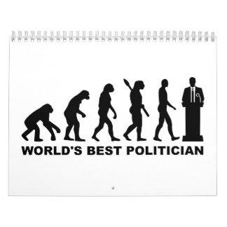 Político del mundo de la evolución el mejor calendario