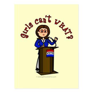 Político ligero tarjetas postales