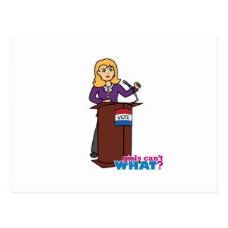 Político - luz/Blonde Tarjetas Postales