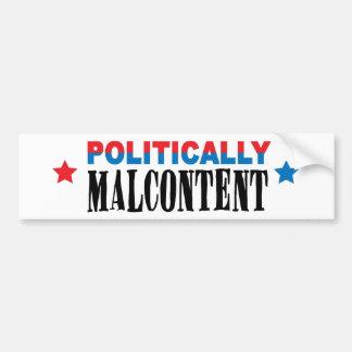 político malcontent pegatina para auto