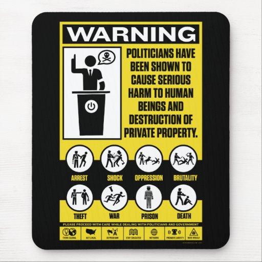 Político que advierte Mousepad