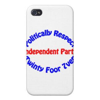 Político respecto - fiesta independiente iPhone 4/4S fundas