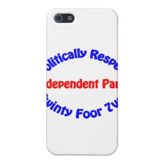 Político respecto - fiesta independiente iPhone 5 carcasas