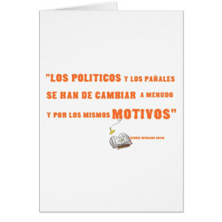 politicos stationery note card
