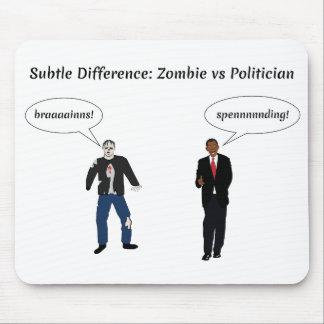 Políticos de los zombis tapetes de ratón
