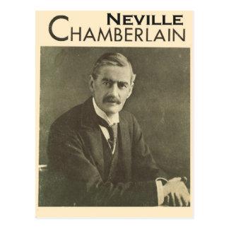 Políticos del vintage, Neville Chamberlain Tarjeta Postal