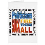 ¡Políticos del voto hacia fuera! Felicitacion