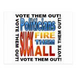 ¡Políticos del voto hacia fuera! Tarjeta Postal