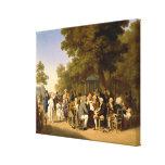 Políticos en los jardines de Tuileries, 1832 Impresión De Lienzo