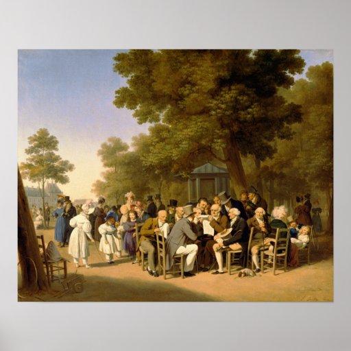 Políticos en los jardines de Tuileries, 1832 Poster
